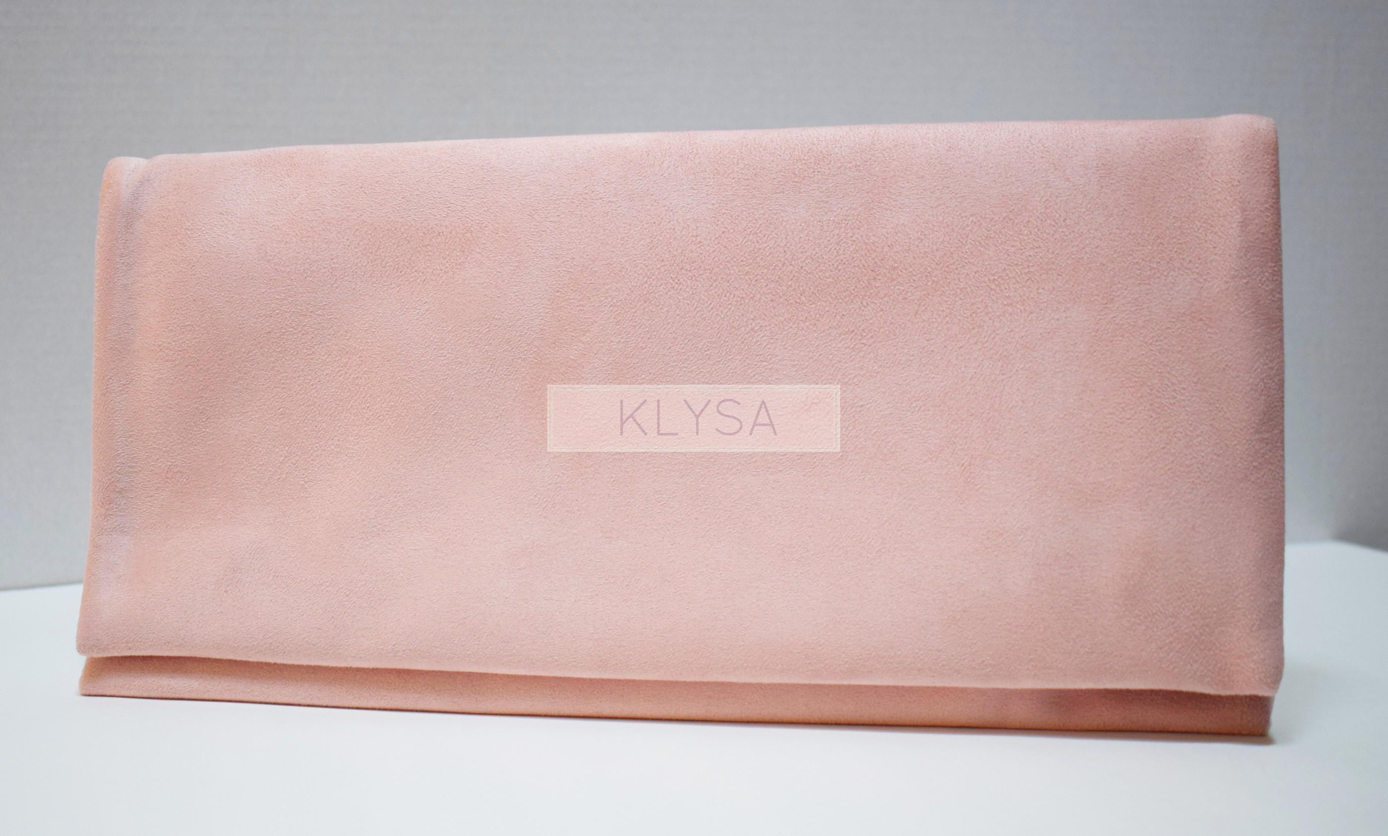 comprar popular 09c4b 61a43 BOLSO FIESTA BAGUETTE ROSA NUDE - KLYSA